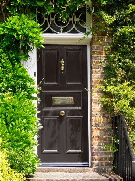 dark brown front door ten best front door colours for your house black front