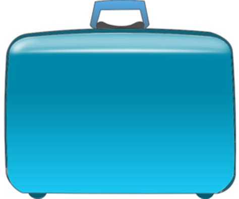 aa baggage fee blue suitcase clip at clker vector clip