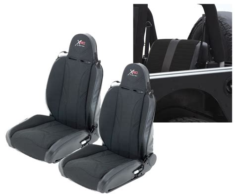 jeep jk unlimited rear seats smittybilt xrc suspension seats with free rear seat cover