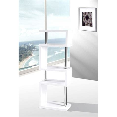 miami slim high gloss shelving unit white 16403 furniture