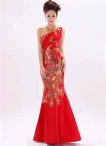 Full length cheongsam qipao chinese wedding dress