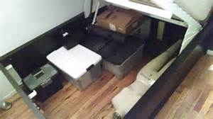 malm storage bed hack lofted raised malm storage bed converts to 18 quot of