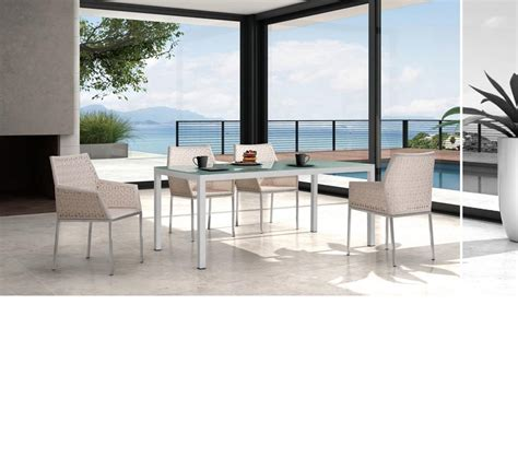 Modern Patio Dining Set Dreamfurniture T61 Modern Patio Dining Set