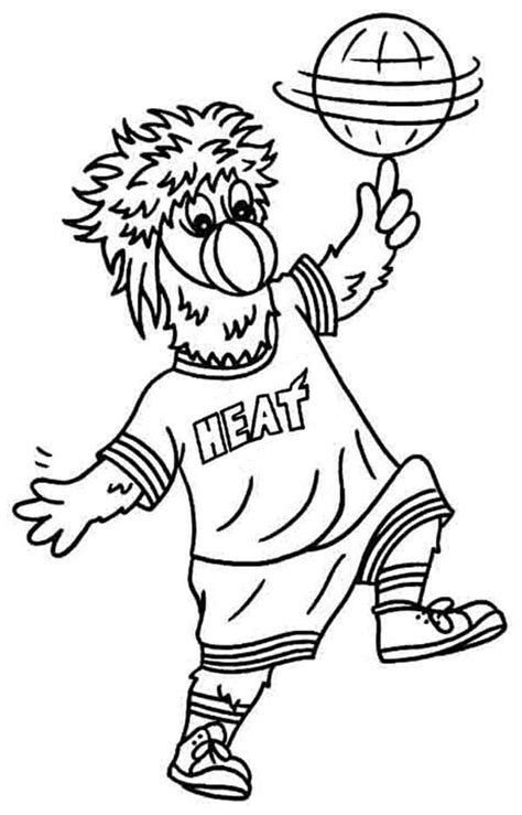 miami heat logo coloring pages for printable coloring pages