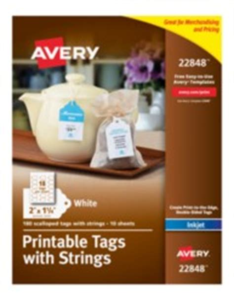 Avery Printable Scalloped Tags With Strings Avery Scallop Labels Template