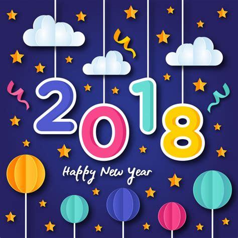 clipart buon anno illustrazione della cartolina d auguri di arte della carta