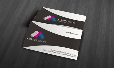 Cool Business Card Design Templates by Creative Unique Corporate Business Card Template 187 Free