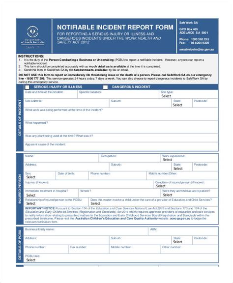 blank incident report form template blank incident report template 17 free pdf format