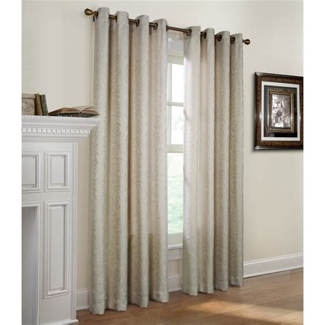 commonwealth curtains commonwealth michelle 63 quot grommet curtain panel in ivory