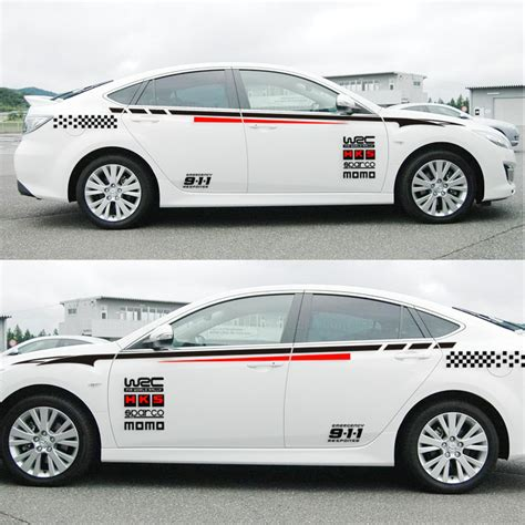 Sticker Kaca Pintu Mobil Ralliart Cutting Stiker Mitsubishi 1 Pcs buy wholesale racing stripes from china racing stripes wholesalers aliexpress