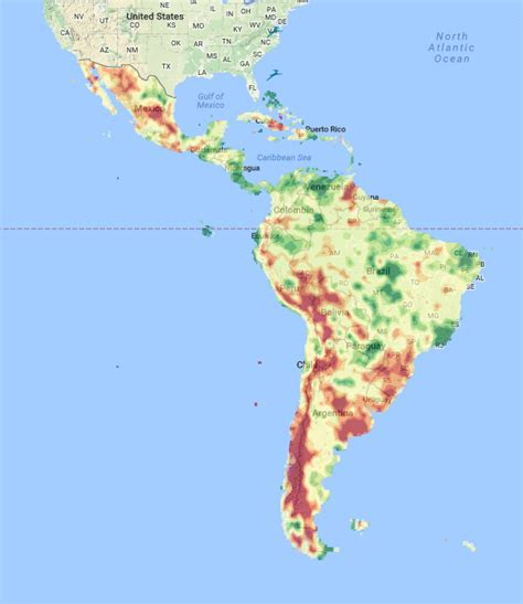 south america drought map understanding risk regions south america