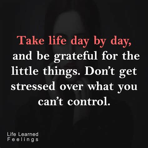 Take Life Day By Day And Be Grateful For The Little Things - career achievement quotes take life day by day and be