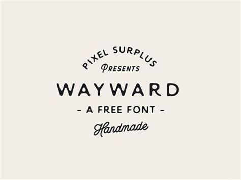 Font Handmade - wayward sans a free handmade font freebiesbug
