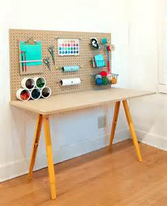 Wood Sawhorse Desk Diy Craft Station Kid Crave