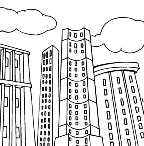 tall buildings coloring pages