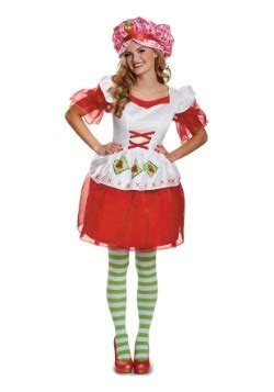 strawberry shortcake costumes adult, kids strawberry