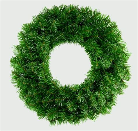 50cm premier plain green wreath artificial christmas xmas