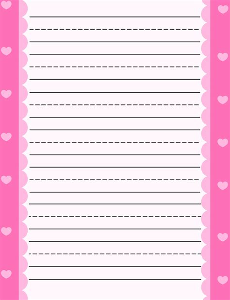 best photos of heart border writing paper valentine
