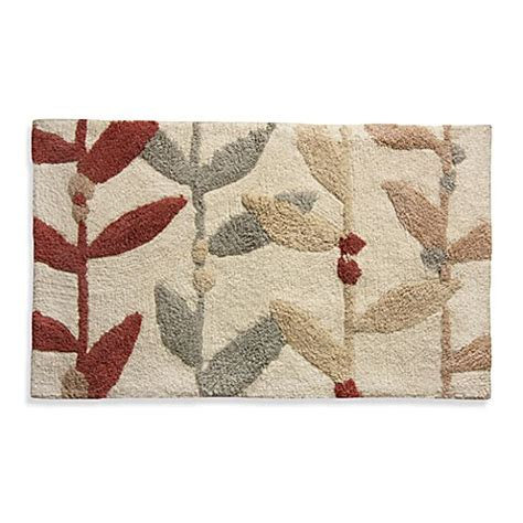 Multi Color Bathroom Rugs Buy Multi Colored Leaf Bath Rug From Bed Bath Beyond