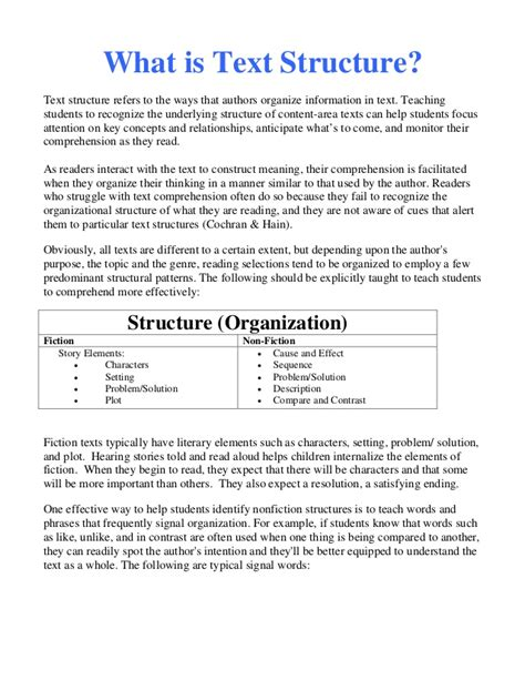 Text Structure Worksheets 4th Grade by Text Structure Worksheets 4th Grade Wiildcreative
