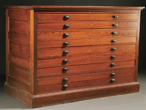 map drawers cabinet 1243 a pine map or blueprint cabinet early 20th centu on