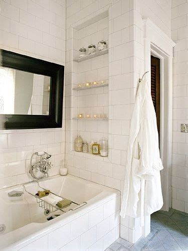 built in shelves bathroom white tiled shower tub combo with built in shower niche shelf storage for the home