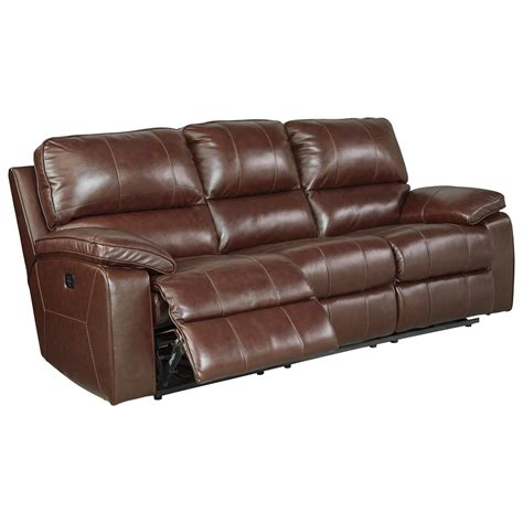 power reclining sofa with adjustable headrest leather match power reclining sofa w adjustable headrest