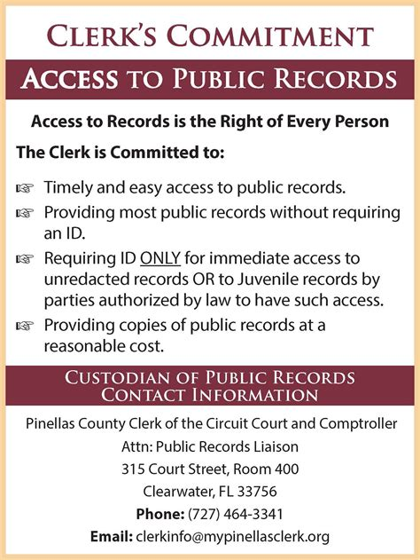 Records Florida Pinellas County Fl Clerk Of The Circuit Court
