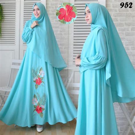 Gamis Syari Bubblepop gamis syari bubblepop bordir 952 baju muslim murah