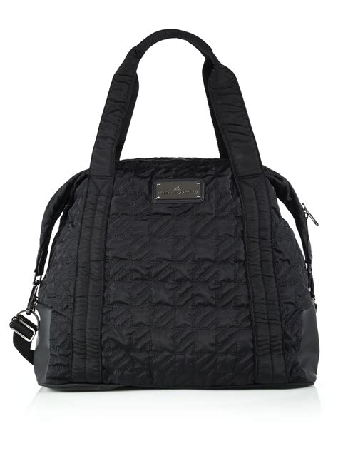 Houndstooth Shoulder Bag lyst adidas by stella mccartney quilted houndstooth