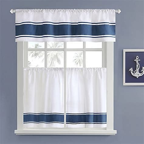 Nautical Kitchen Curtains Harbor House Sailor Window Curtain Tier Pair Bed Bath Beyond