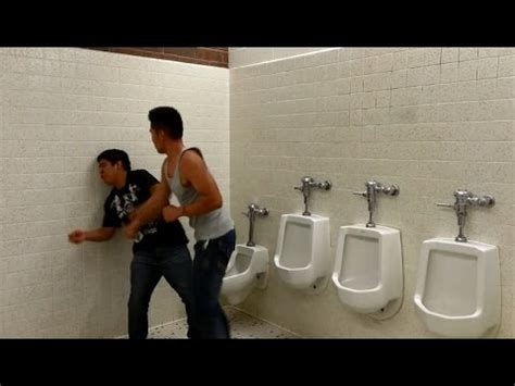 bathroom fight this bathroom fight features terrible punching and a great