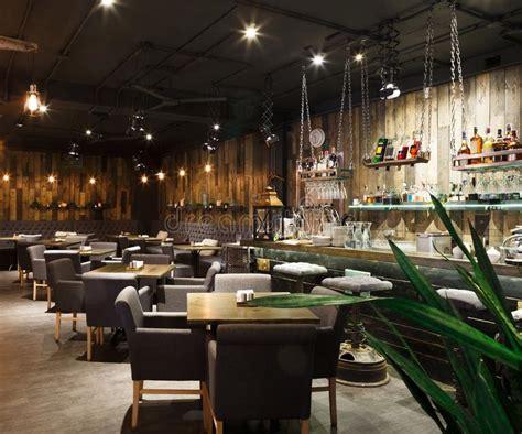 loft design e cafe interior of cozy restaurant loft style stock photo