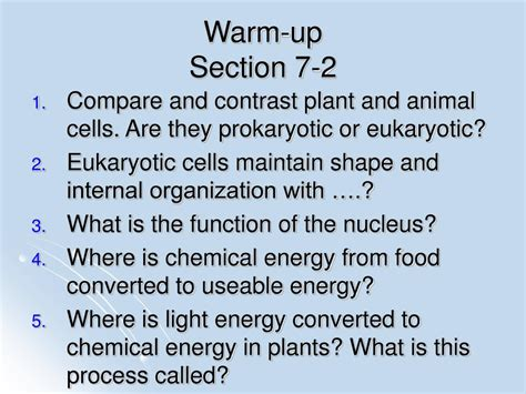 section 7 2 cell structures ppt chapter 7 cell structure and function powerpoint