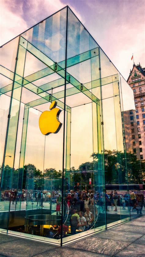 wallpaper apple store new york new york city store iphone 6s wallpapers hd