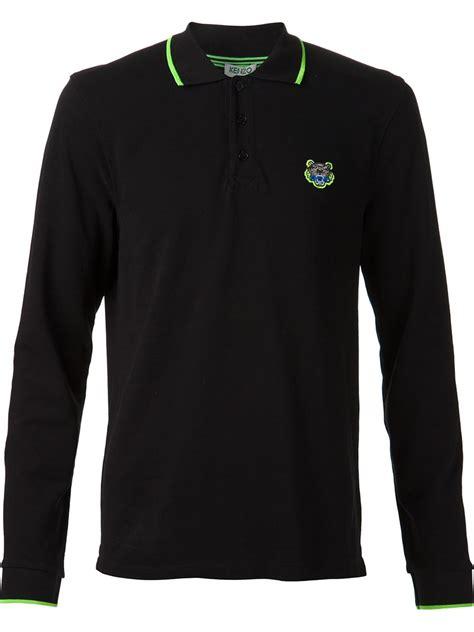 Polo Shirt Kenzo Premium kenzo polo shirt in black for lyst