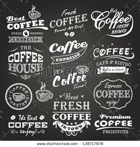 cafe design font collection of coffee shop sketches labels and typography