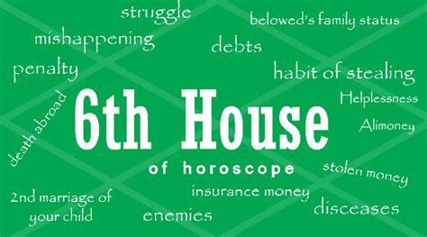 6th house astrology sixth house of horoscope