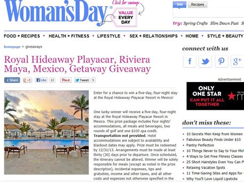 Resort Sweepstakes - royal hideaway playacar resort sweepstakes