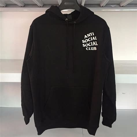 Sweater Anti Social Social Club Zalfa Clothing 1 streetwear hip hop kanye black white pink hoodie fashion brand clothing skate sweat assc anti