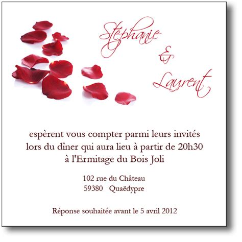 Modèle De Lettre D Invitation Pour Un Mariage Invitation Mariage P 233 Tales De Roses Coordonn 233 E Au Faire Part
