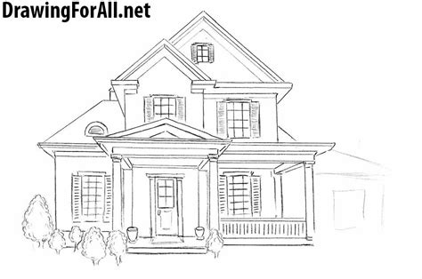 draw a house how to draw a house for beginners drawingforall net