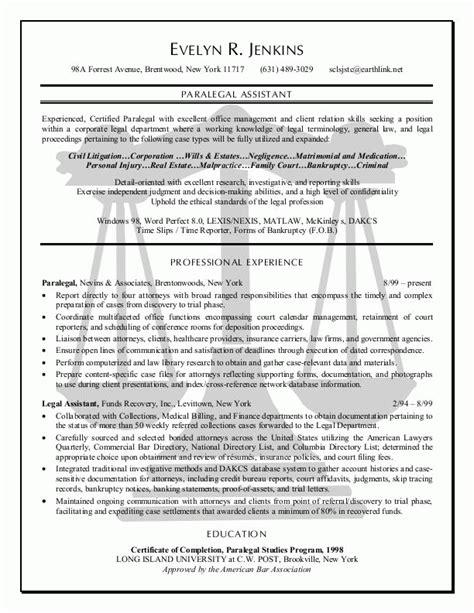 Best Paralegal Resume Samples