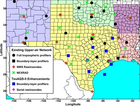 texas air quality map esrl psd texas air quality study texaqs