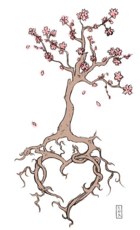 heart tree tattoo design cherry blossom by takakiarts on deviantart