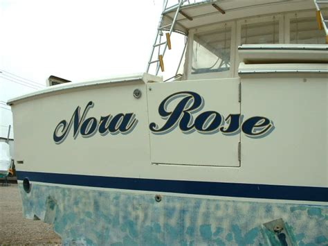 nora rose boat lettering sign a rama milwaukee signs - Custom Boat Graphics Milwaukee