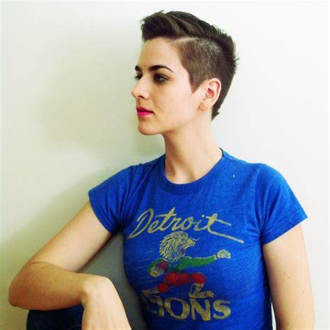 buzzed women haircut short haircut for women buzzed sides hair pinterest