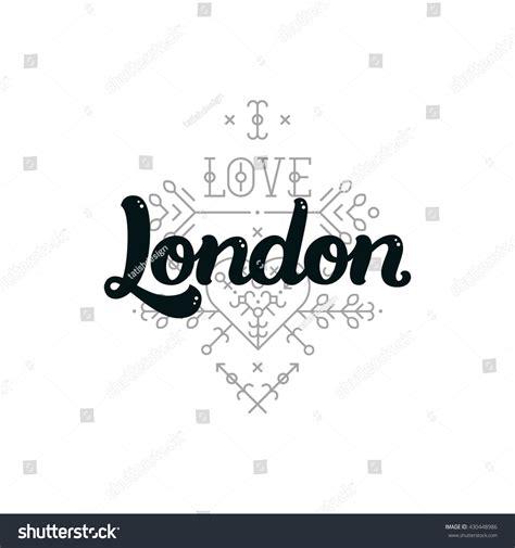 font design london london modern lettering sign love london stock vector