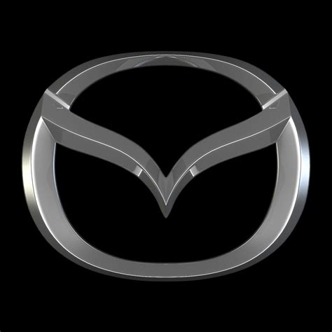 mazda emblem mazda logo 3d model buy mazda logo 3d model flatpyramid