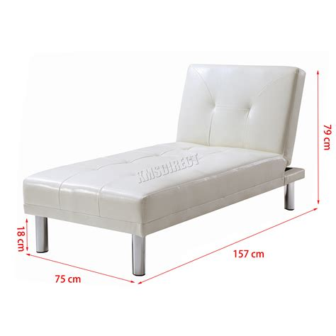 chaise longue sofa bed uk foxhunter chaise longue single sofa bed 1 seater couch